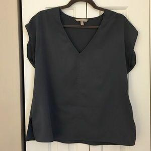 Banana Republic V-neck, Short Sleeve Blouse